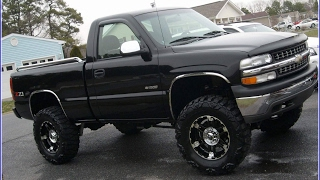 Mud Truck Big Lifted Chevy Jacked UP Black