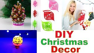 DIY Christmas Decorations 🎄 ❄️ 5 DIY Projects for Christmas & Winter!
