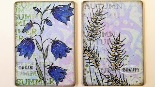 Friday Fun - Flower ATCs Using New That´s Crafty! Stamps And Stencils