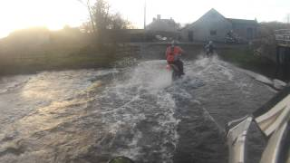preview picture of video 'Fording the Afon Sannan near Llangathen in Carmarthenshire'