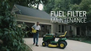 How To Change Fuel Filter | John Deere D100 Lawn Tractor Maintenance
