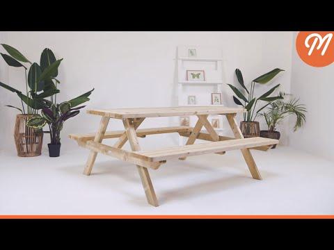 MaximaVida luxe houten picknicktafel Tallinn 180 cm - extra brede dwarsbalken en poten