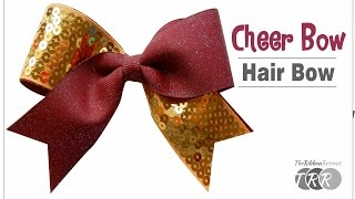 How To Make A Cheer Bow Hair Bow - TheRibbonRetreat.com