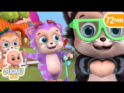 Five Little Kittens driving | Parenting and teaching | Education Nursery Rhymes by Jugnu Kids