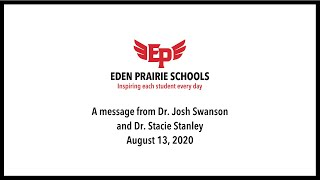 A Message from Dr. Josh Swanson & Dr. Stacie Stanley - Aug. 13, 2020