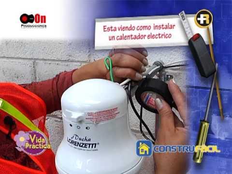Como instalar un calentador eléctrico