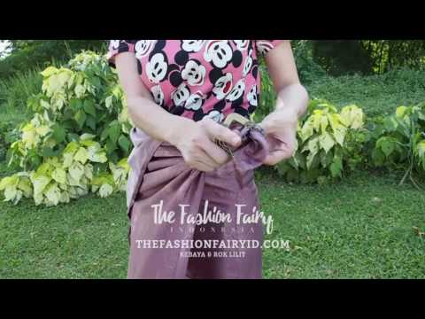 Video Jual Kebaya, Rok Lilit Batik, Blouse, Kaftan -  Tutorial Pemakaian Rok Lilit Batik Paling Gampang