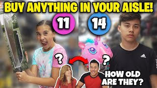I'LL BUY ANYTHING IN YOUR AGE AISLE CHALLENGE!!! Our Parents' Ages Revealed!