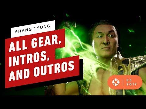 Mortal Kombat 11: All Shang Tsung Gear, Intros, and Outros - E3 2019