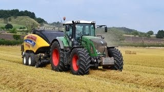Fendt 939 & New Holland 1290 BB Baling Straw