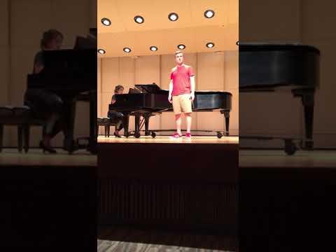 """Me singing """"Joey, Joey, Joey"""" in a master class in graduate school."""
