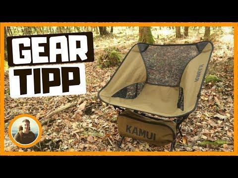 Günstiger, taktischer OUTDOORSTUHL für Camping, Trekking, Angeln, Jagd - Gear Tipp