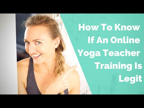 How To Know If Your Online Yoga Teacher Training Is Legit - YouTube