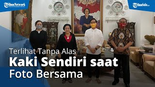 Gibran Terlihat Tanpa Alas Kaki Sendiri saat Foto Bersama di Kediaman Megawati di Menteng, Jakarta