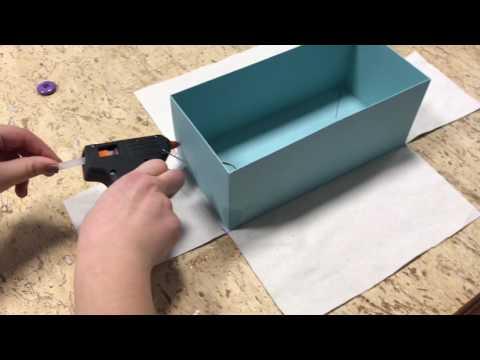Tutorial come foderare una scatola con la stoffa