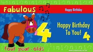 Kidzone - Happy Birthday To Four Year Olds
