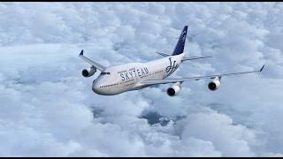[P3D]China Airlines 台北飛往香港啟德  PMDG 747-400 V3 天合聯盟圖裝