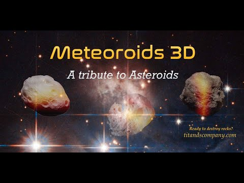Meteoroids 3D: a tribute to Asteroids