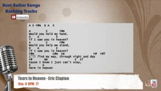 Tears In Heaven - Eric Clapton Vocal Backing Track with chords and lyrics