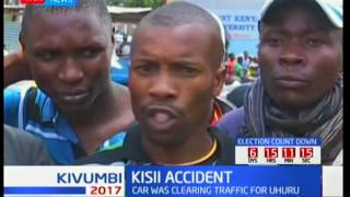 Several injured as vehicle in president's motorcade crashes with matatu in Kisii