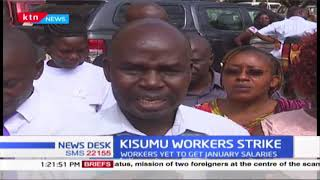 Kisumu county workers protest delay in payment of January salary, says it's a deliberate move