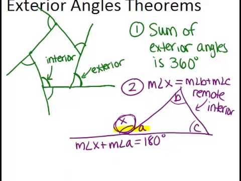 Exterior angles theorems read geometry ck 12 - What is the definition of exterior angles ...
