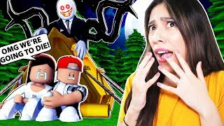 ROBLOX CAMPING - I WENT CAMPING WITH MY BOYFRIEND and THE FOREST WAS HAUNTED!