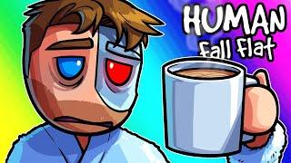 Human Fall Flat Funny Moments - Sleepy Brian Surviving Moo's Map!