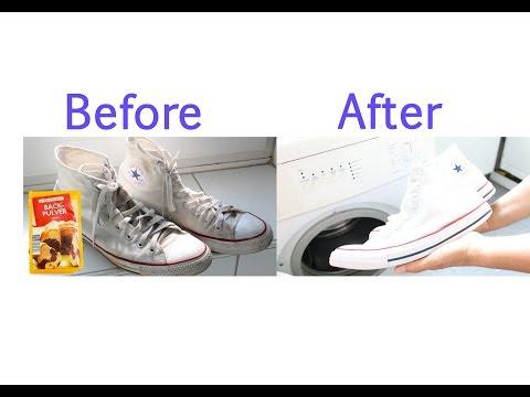 LIfe Hack ! Schneeweiße Converse Schuhe glänzen wieder wie NEU ! Snow white Chucks shine like NEW!