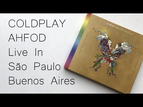 Coldplay Live In Buenos Aires / Live In São Paulo / A Head Full Of Dreams  CD+DVD | Unboxing