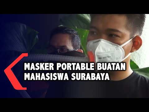 mahasiswa surabaya ciptakan masker portable seperti apa