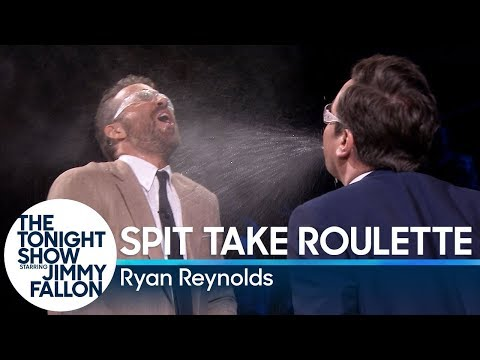 Spit Take Roulette with Ryan Reynolds (видео)