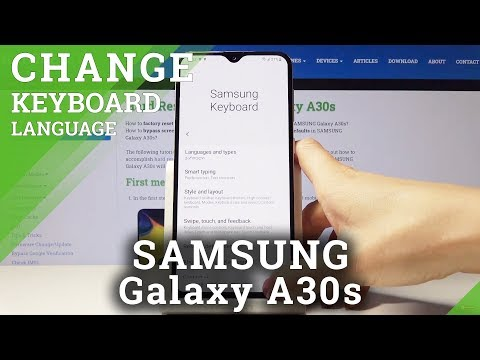 How to Switch Keyboard Language in SAMSUNG Galaxy A30s – Keyboard Settings