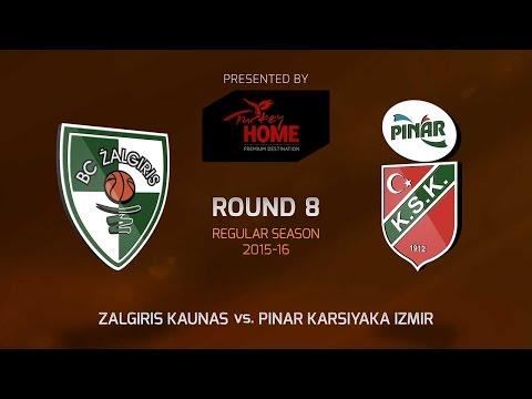 Highlights: RS Round 8, Zalgiris Kaunas 74-52 Pinar Karsiyaka Izmir