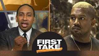 Stephen A. Smith strongly reacts to Kanye West