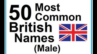 Learn English - Lesson #23: 50 Most Common British Names (male)