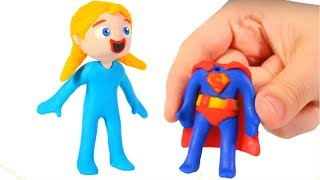 BABY ELSITA NEW OUTFIT ❤ SUPERHERO BABIES PLAY DOH CARTOONS FOR KIDS