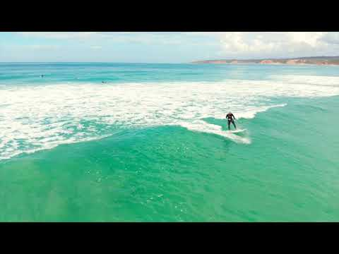 Drone footage of fun waves at Guvvos