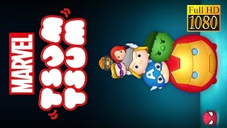Marvel Tsum Tsum Game Review 1080P Official Xflag Puzzle 2016