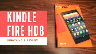 Kindle Fire HD 8 (Red Color, 8th generation - 2018 Release) - Unboxing, Review, and Setup