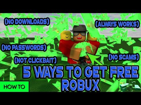 Roblox] 5 WAYS HOW TO GET FREE ROBUX! (LEGIT, NO DOWNLOAD, PASSWORD