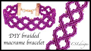 DIY Braided Macrame Bracelet