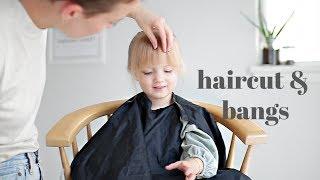 Giving My 3 Year Old Bangs & A Haircut