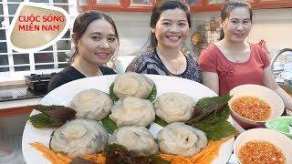 Làm bánh hẹ đãi dì Út 14  gia đình #namviet