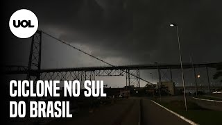 """""""Ciclone bomba"""" causa estragos no Sul do Brasil"""