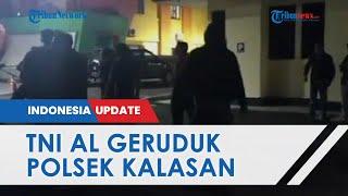 Oknum Polisi Unggah Komenan Negatif soal KRI Nanggala-402, Prajurit TNI AL Geruduk Polsek Kalasan