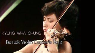Kyung Wha Chung plays Bartók violin concerto No.2 (1984)