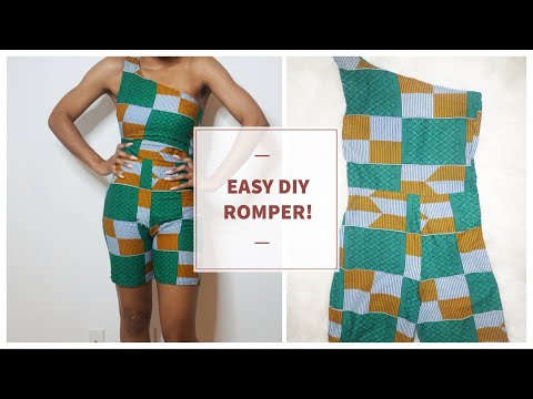 DIY | How To Make an Ankara Romper (Black Panther Inspired)