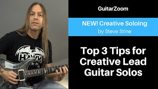 Top 3 Tips for Creative Lead Guitar Solos | Creative Soloing Workshop