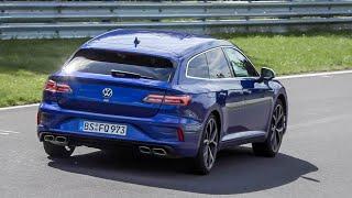 Volkswagen Golf 8 R & Arteon R Shooting Brake spied testing on the Nürburgring Nordschleife